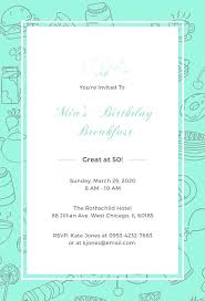 Free Online Birthday Invitations To Email Cool Free Online Printable Birthday Invitation Templates