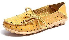 Fashion Grasshoppers Womens Windham Slip On Flat Yellow