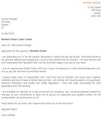 Cover Letter For Kitchen Help Free Kitchen Staff Cover Letter Sample