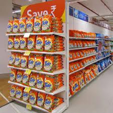 ms instor doublesided supermarket gondola shelving