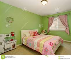 Pink And Green Walls In A Bedroom Bedroom Green Walls