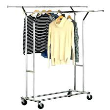 heavy duty rolling adjule portable clothes hanger garment rack rail new wonderful ikea