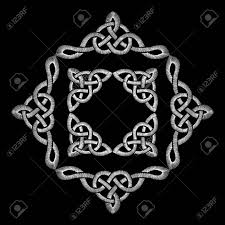 Celtic Knot Embroidery Designs Stock Illustration