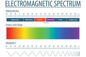 Laminated Electromagnetic Spectrum And Visible Light Educational Reference Chart White Sign Poster 18x12 Inch