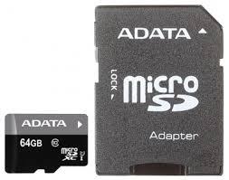 <b>Карта памяти MicroSDXC 64Gb</b> class10 A-DATA Premier UHS-I ...