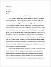 lord of the flies final paper example gina hansen mr nelson this preview has intentionally blurred sections sign up to view the full version