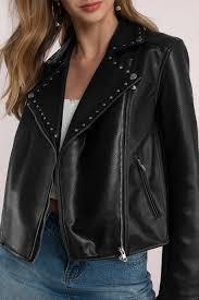 tobi leather jackets black stud on you moto jacket tobi