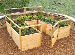 cedar raised garden beds complete bed kit 8 x home depot
