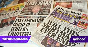 (pragmatics & beyond new series 170) todd oakley newspaper headlines, in authentic newspapers especially, have their own language. Quiz Can You Complete These 2020 Newspaper Headlines