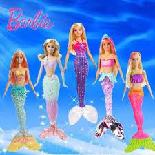 Búp Bê Barbie Chính Hãng Thương Hiệu Cầu Vồng Đèn Búp Bê Nàng Tiên Cá Tính