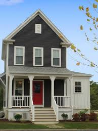 House Design Awesome Grey Color Home Exterior Painting Art Maroon ...