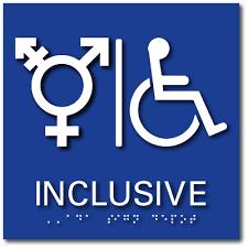 bathroom symbol. all gender inclusive symbol accessible bathroom sign - 8\