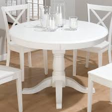jofran topsail round pedestal dining table white at