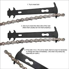 <b>1PCS Bicycle</b> Chain Measuring Ruler <b>Bicycle Chain Wear</b> Indicator ...