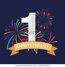 anniversary poster template 1st anniversary poster template design stock vector royalty free