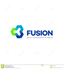 Fusion Logo Design Vector Abstract Logo Design For Business Fusion Sign Stock
