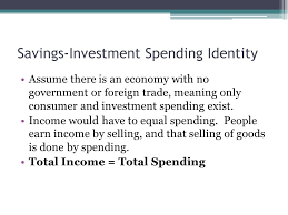 savings investment spending identity assume there is an economy with no government or foreign trade