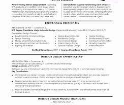 Interior Designer Resume Examples Resume Format For Internship Pdf Beautiful Interior Design Resume 17