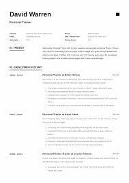 Personal Trainer Sample Resume 24546 Densatilorg