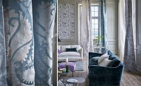 Image result for BLUE HEAVY BROCADE DRAPES