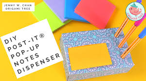 back to school post it note crafts diy how to make a post it pop up notes holder dispenser you