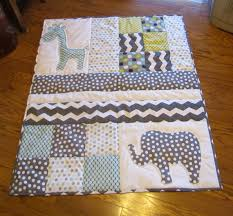 Pin by Sydney Rosochacki on Quilting | Pinterest | Squares, Babies ... & Grey and white baby elephant and giraffe baby quilt. Handmade Baby Quilt  with elephant and giraffe applique. I would love to quilt this sometime. Adamdwight.com