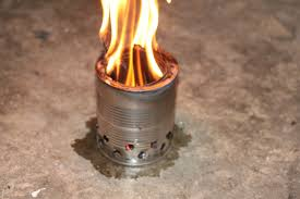 picture of diy wood gasifier camp stove