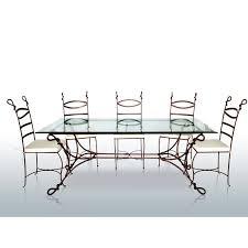 Structure de table en fer forgé Cabras | mobilier classique