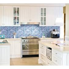 blue glass tile backsplash blue glass stone mosaic wall tiles gray marble tile kitchen ideas bathroom