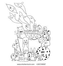 Small Picture Coloring Pages Adults Coloring Book Black Stock Vector 430728607
