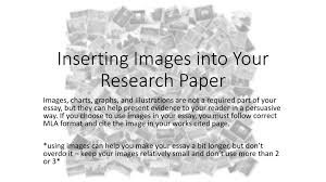 Inserting Images Into Your Research Paper Ppt Download