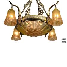 art nouveau antique french chandelier with early art deco design elements 1900 s ant 319 for