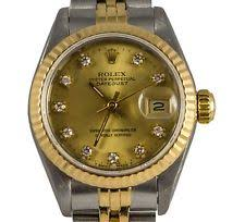 rolex watch fake how to tell men s rolex datejust factory 16234 diamond 1992 gold dial 26mm