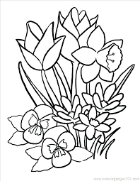 Coloring Pages For Spring Flowers Fresh Idea Spring Flowers Coloring