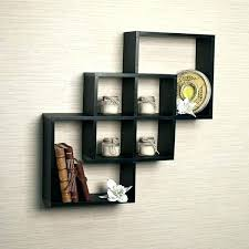 decorative wall boxes wooden intersecting squares black shelf key white new storage