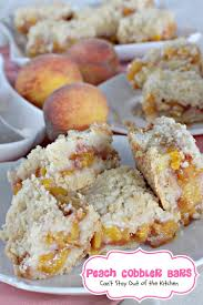 Peach Kitchen Peach Shortbread Bars Cant Stay Out Of The Kitchen