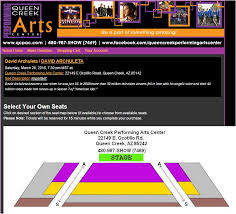 Queen Creek Seats Chart Fans Of David Archuletafans Of