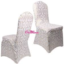 6pcs lot spandex chair covers for weddings dining chair cover bronzing gold printed banquet party chair covers home textile in chair cover from home