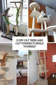 diy cat trees and cat towers to build yourself cover