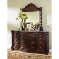 B553 36 Ashley Furniture North Shore Dark Brown Bedroom Mirror
