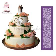 Beautiful Lace Flower For Cake Design Fondant New Design Cake Mesh