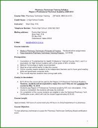 Entry Level Pharmacy Technician Resume Customized Entry