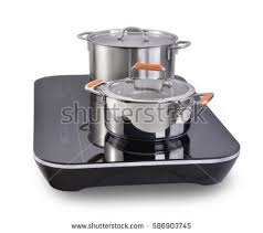 Modern Kitchen Induction Cooker Kitchen Utensils Stock Photo