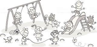 Bambini Che Giocano Al Parco Immagini Vettoriali Stock E Altre