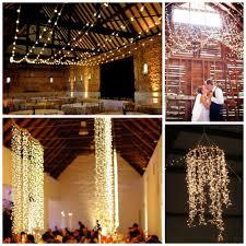 chandelier style string light hanging