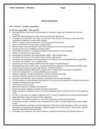 Gallery of Teradata Sle Resume