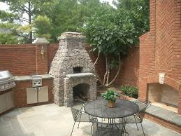 image of outdoor fireplace with oven ideas