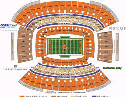 Browns Seating Chart Nfl Football Stadiums Cleveland Browns Cleveland Browns