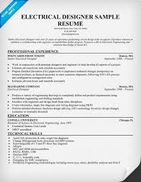 Dcs Engineer Sample Resume Adorable Electrical Designer Resume Sample Resumecompanion Ready Set