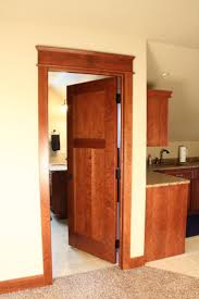 3 panel wood interior doors. Interior Doors   3 Panel Wood Craftsman Style Door With Topper Bayer Built Woodworks
